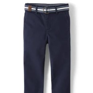 Boys Belted Chino Pants - Ivy Tidal